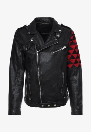 BEWARD - Leather jacket - black