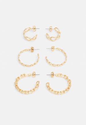 PCFIONNA EARRINGS 3 PACK - Earrings - gold-coloured