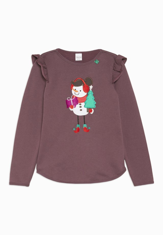 HELLO SNOWGIRL  - Sweatshirt - plum purple