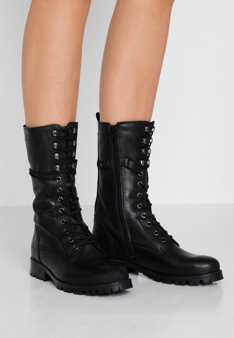 Zign - Bottines à lacets - black