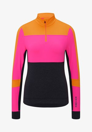 FIRST LAYER ESRA - Long sleeved top - pink/schwarz/orange