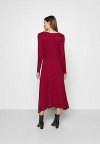 Banana Republic - VNECK COZY - Jumper dress - mulled cranberry - 2