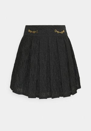 WILD CARD PLEATED - Mini skirts  - black