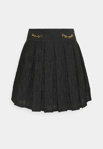 WILD CARD PLEATED - Mini skirt - black