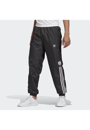 3D TREFOIL 3-STRIPES TRACKSUIT BOTTOMS - Pantaloni sportivi - black