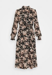 VIVINDI FUNKEL SHIRT DRESS - Shirt dress - black/flowers