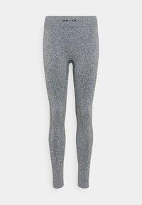 NU-IN - SEAMLESS LOGO HIGH WAIST LEGGINGS - Trikoot - grey - 0
