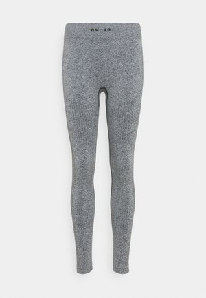 SEAMLESS LOGO HIGH WAIST LEGGINGS - Tights - grey