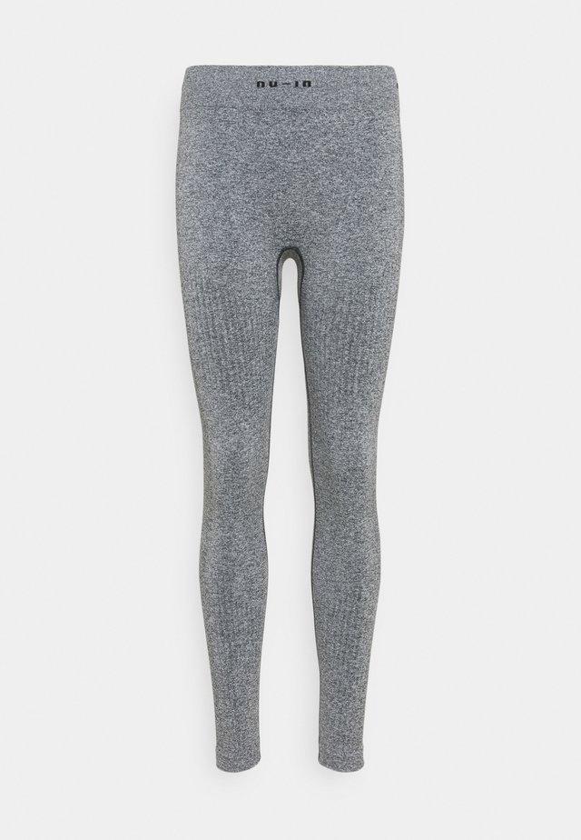SEAMLESS LOGO HIGH WAIST LEGGINGS - Leggings - grey