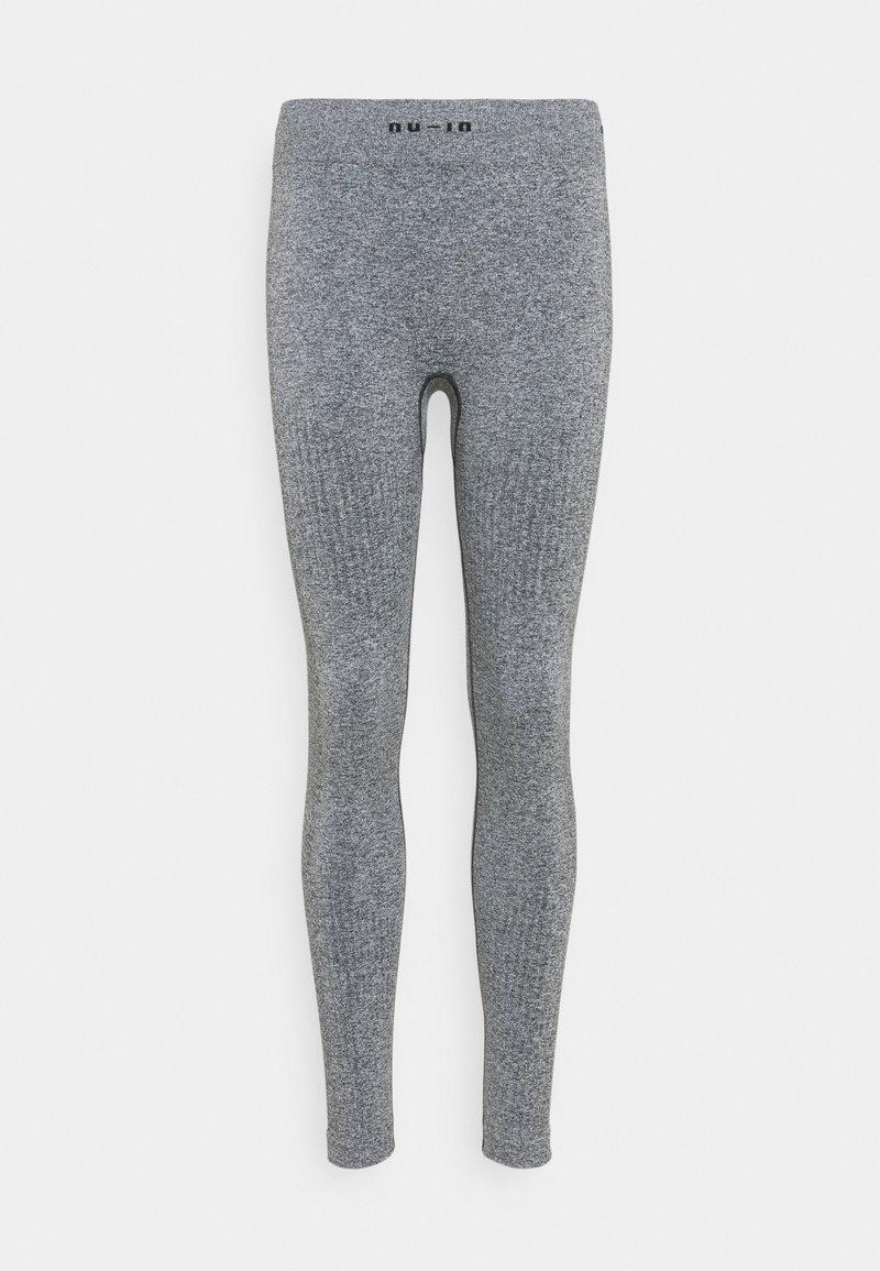 NU-IN - SEAMLESS LOGO HIGH WAIST LEGGINGS - Trikoot - grey