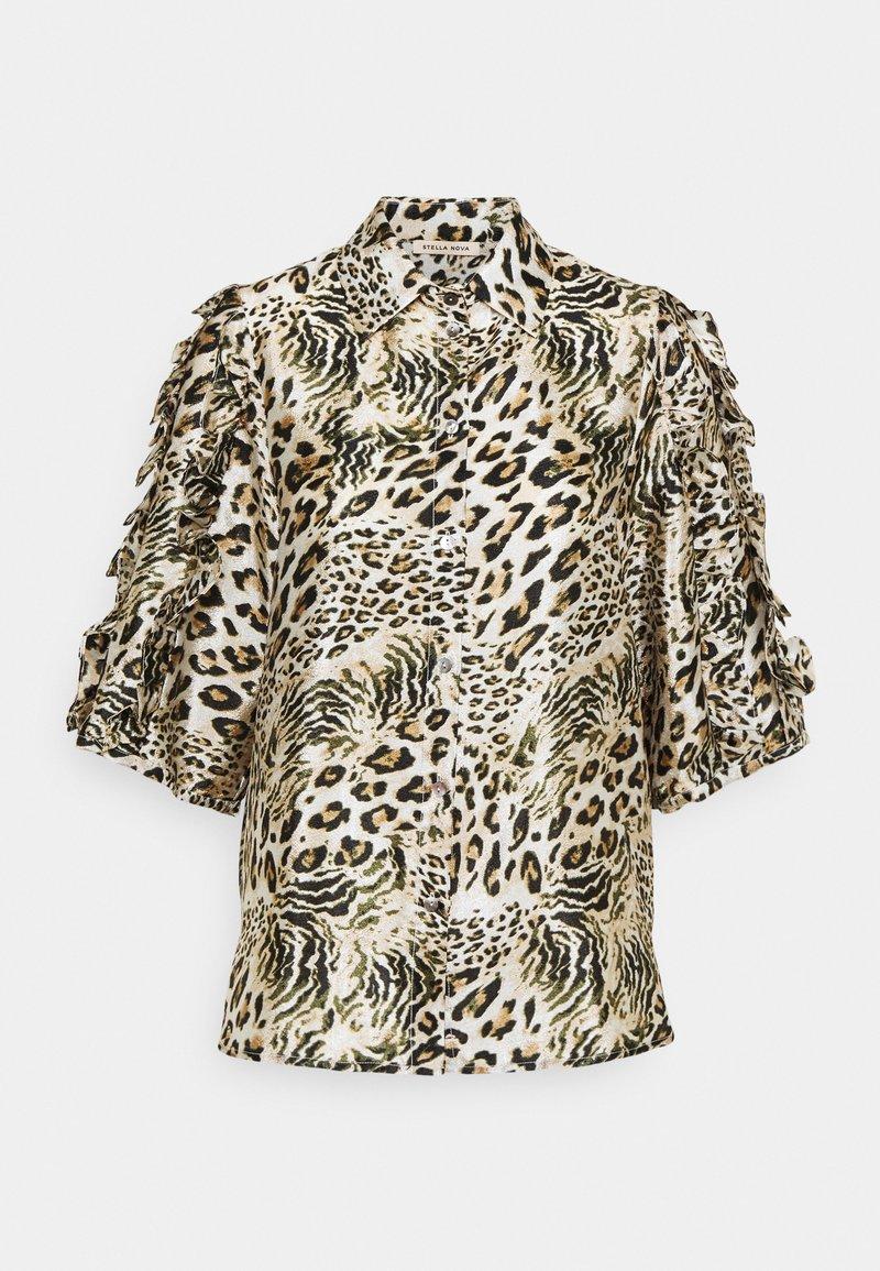 Stella Nova - Button-down blouse - beige/brown/black