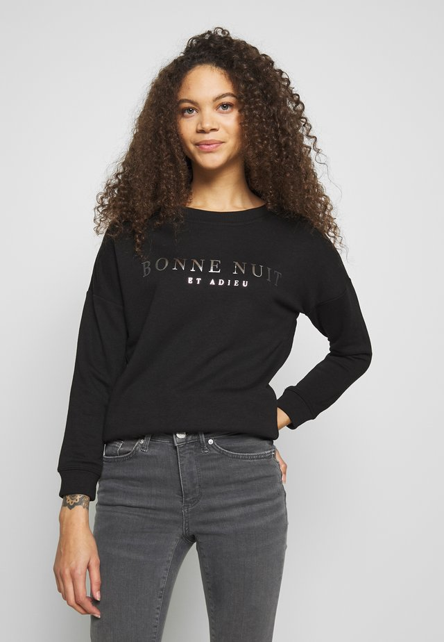 BON FOIL - Sweatshirt - black