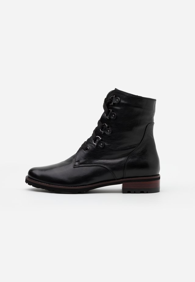 NADIA - Lace-up ankle boots - black