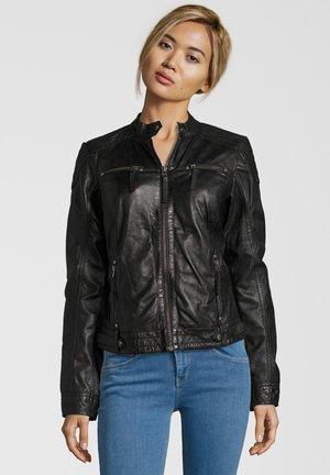 MARIAN - Leather jacket - schwarz