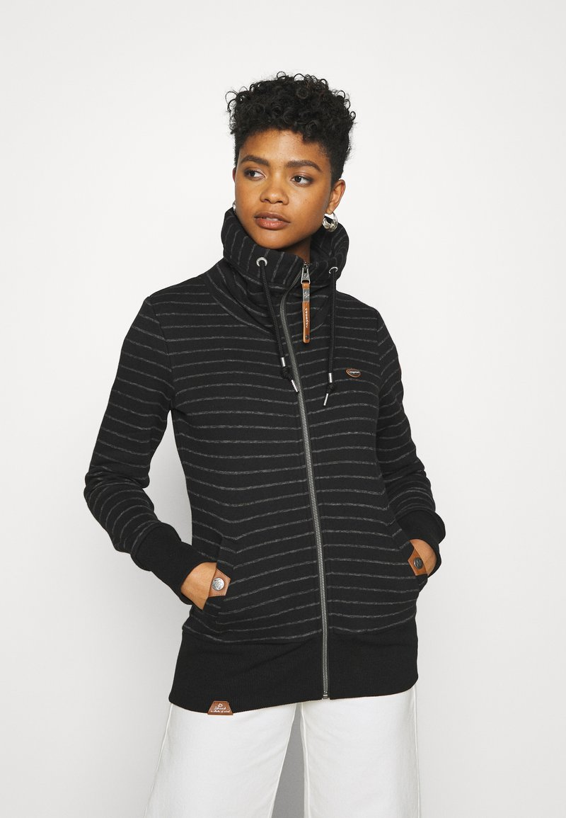 Ragwear - RYLIE STRIPE ZIP - Zip-up hoodie - black
