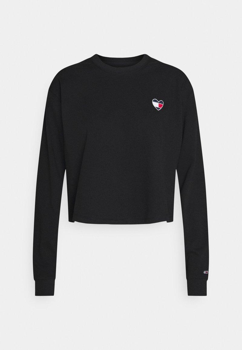 Tommy Jeans - HEART - Sweatshirt - black
