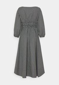 Proenza Schouler White Label - YARN DYE PLAID DRESS - Day dress - black/white - 8