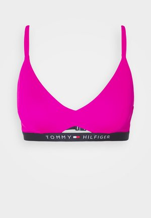 CORE SOLID LOGO BANDEAU STRUCTURED - Bikini top - pink glo
