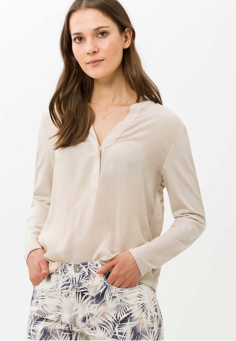 BRAX - STYLE CLARISSA - T-shirt à manches longues - nature