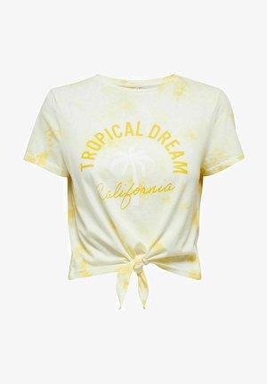 BATIK KNOTENDETAIL - Print T-shirt - sunshine