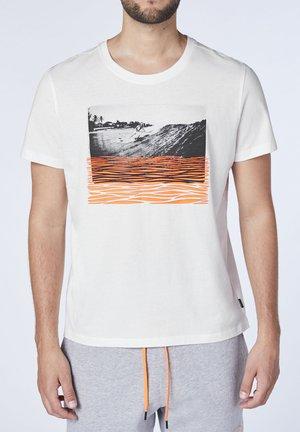 Print T-shirt - star white