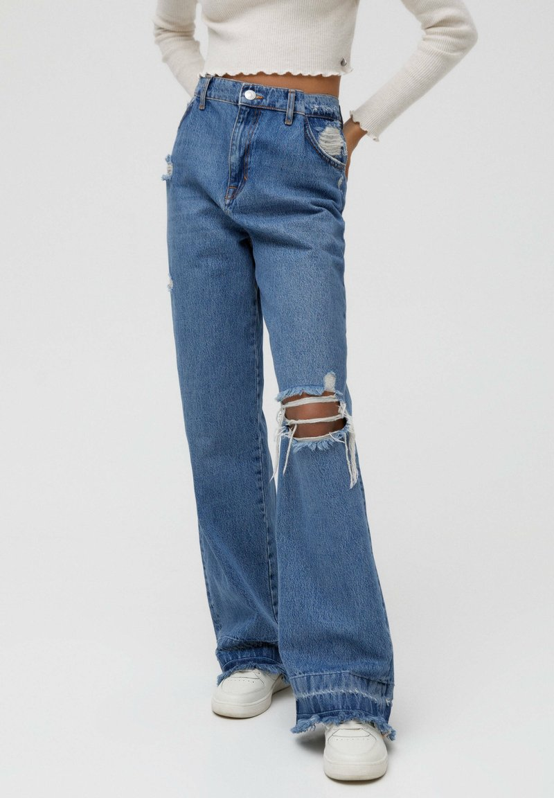 PULL&BEAR - Jeansy Relaxed Fit - blue