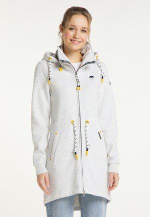 Zip-up hoodie - wollweiss melange