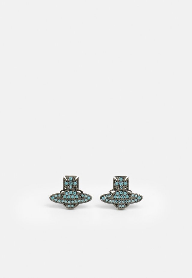 ROMINA PAVE ORB EARRINGS - Náušnice - gunmetal/blue