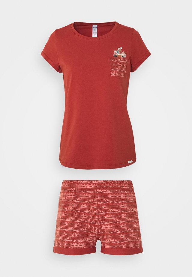 DAMEN PYJAMA KURZ SUNDOWN DESERT SLEEP SET - Pyjama - burnt red