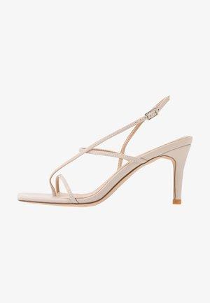 STRAPPY STILETTO - Sandály na vysokém podpatku - nude