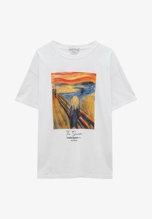 MUNCH DER SCHREI - T-shirt imprimé - white