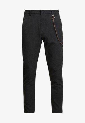 TRAVIS - Trousers - dark grey melange