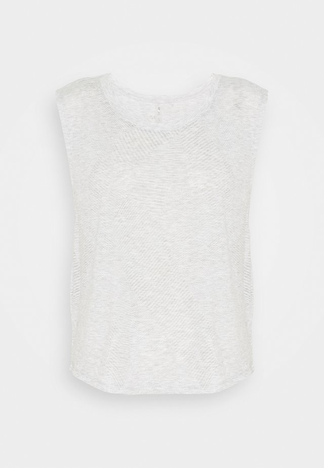 JENIVA BURN OUT TEE  - Top - white