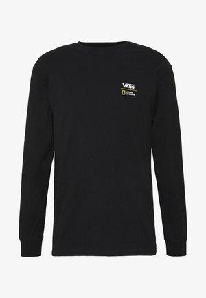 VANS X NATIONAL GEOGRAPHIC GLOBE  - Maglietta a manica lunga - black