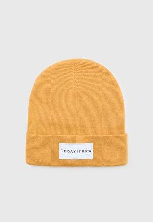 BEANIE BASIC BADGE UNISEX - Bonnet - dusty yellow