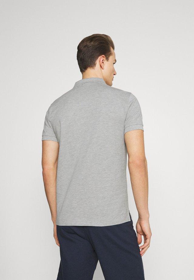 ORIGINAL SLIM RUGGER - Polo - grey melange