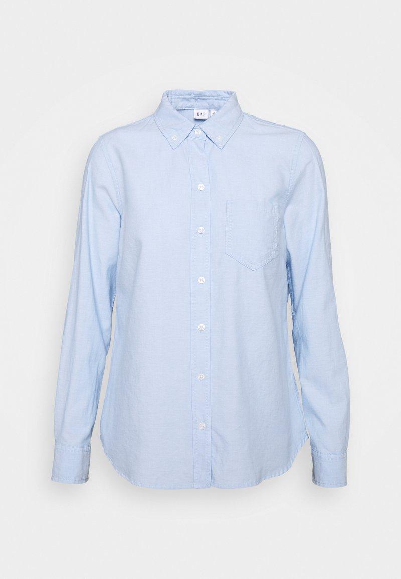 GAP Petite - V FITTED BOYFRIEND - Button-down blouse - light blue