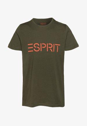 LOGO - Print T-shirt - olive