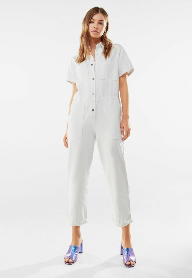 IM WASHED-LOOK - Jumpsuit - white