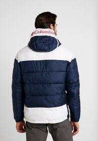 Columbia - LODGE PULLOVER JACKET - Vinterjakker - collegiate navy/white - 2