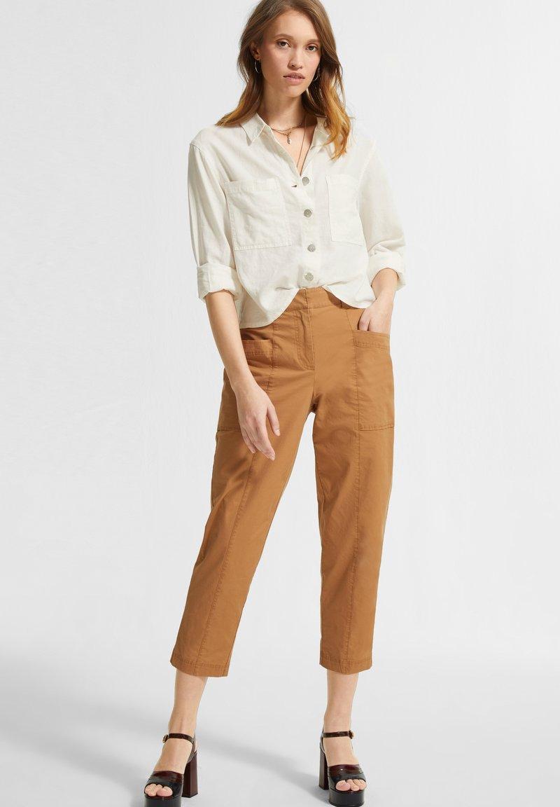 comma casual identity - Button-down blouse - white