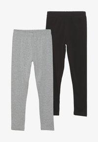Friboo - 2 PACK  - Leggings - Trousers - light grey/black - 3