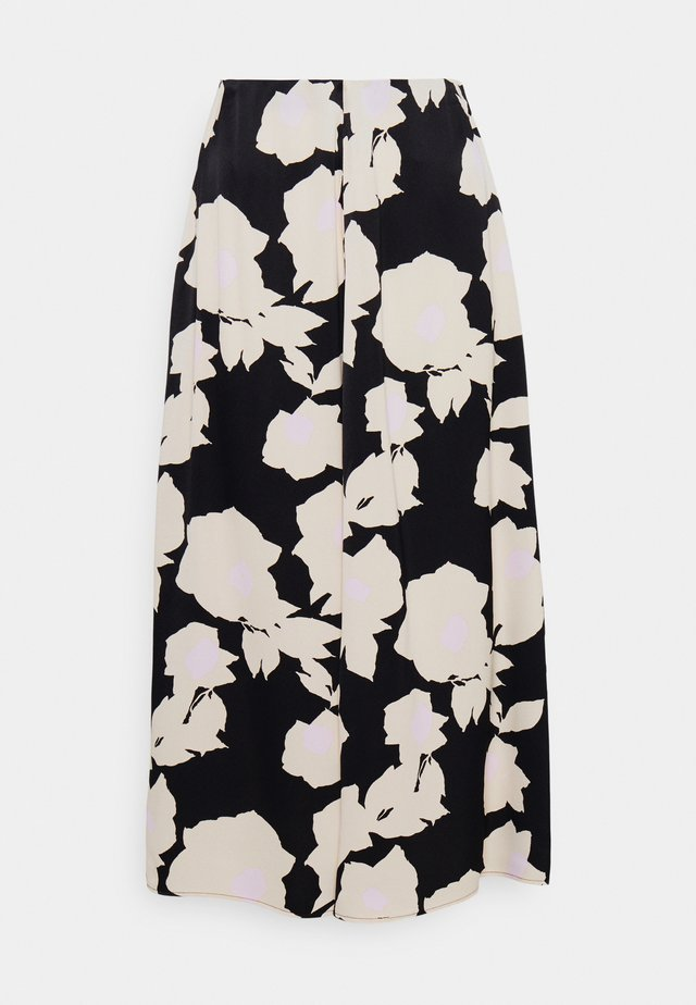 SYKLAAMI JÄÄROUVA SKIRT - Gonna a campana - black/offwhite/rose