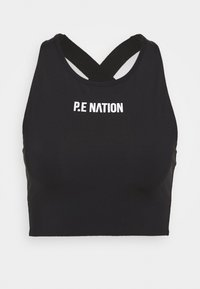 RACING LINE SPORTS BRA - Medium support sports bra - black