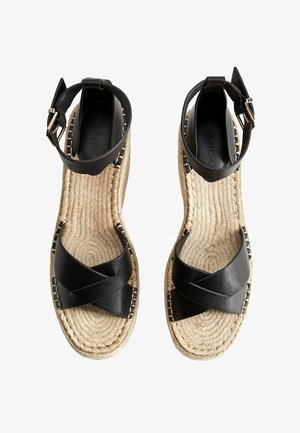 CROSS - Wedge sandals - schwarz