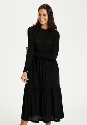 Jumper dress - black w. black lurex