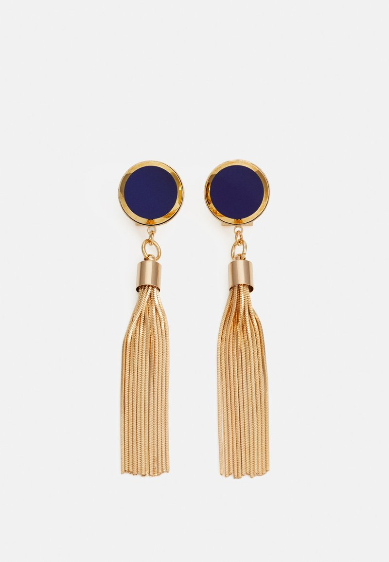 Anton Heunis - DISC WITH TASSEL - Earrings - blue/gold-coloured