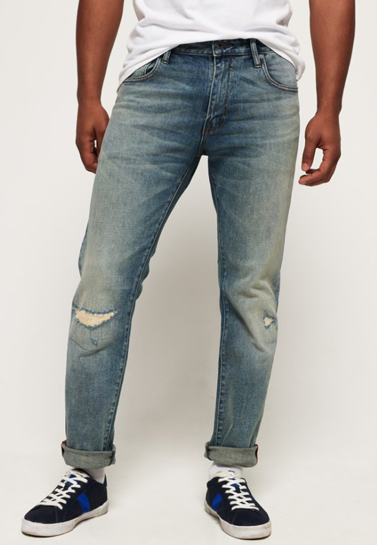 Superdry - DAMAN - Straight leg jeans - grey