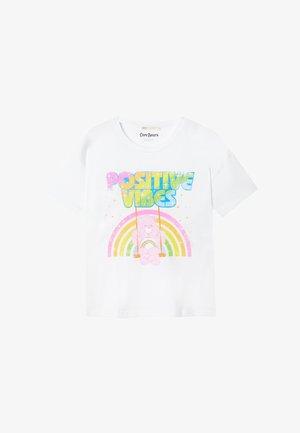 GLÜCKSBÄRCHIS  - Print T-shirt - white