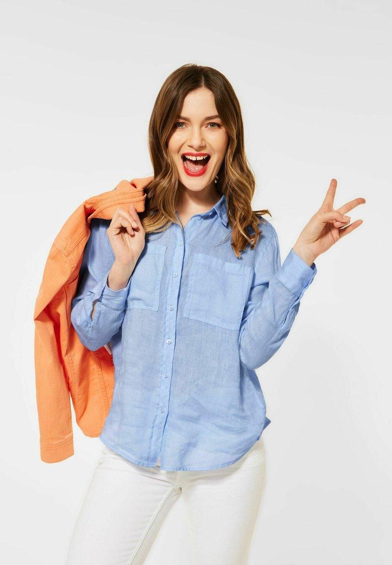 Street One - Button-down blouse - blau